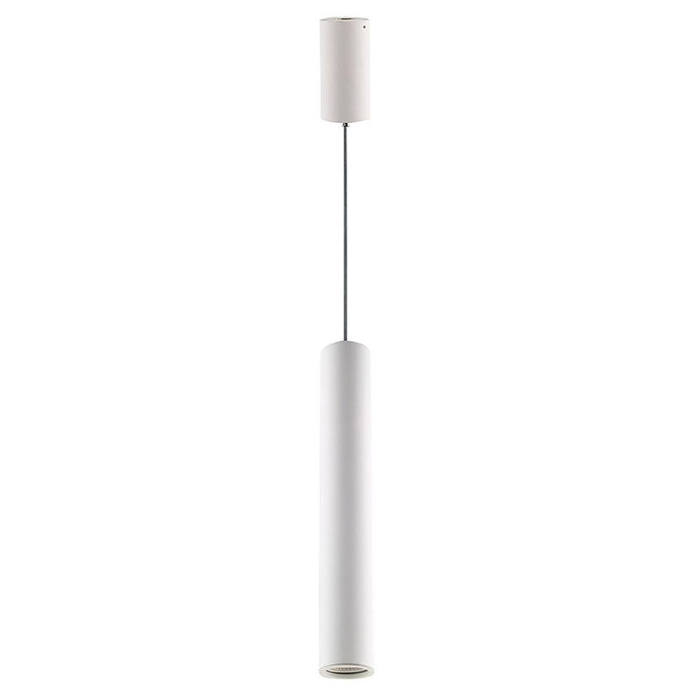 Colgante tubo blanco texturizado